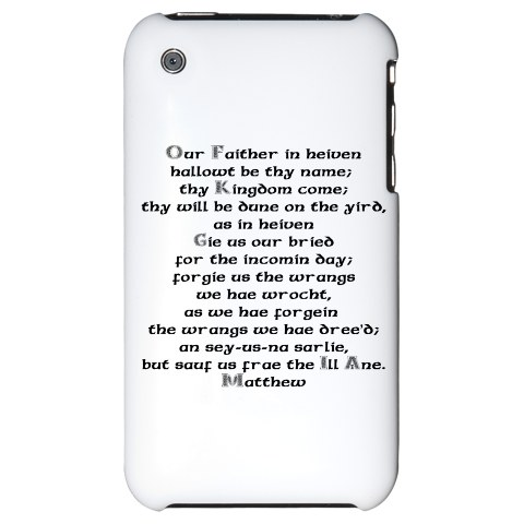 iphone case old testament in scots